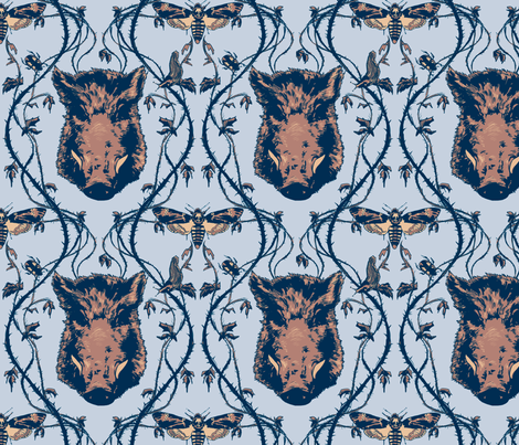 Sickly Pale Blue Forest fabric by tinet on Spoonflower - custom fabric