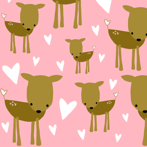 deer fabric by emilyb123 on Spoonflower - custom fabric