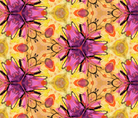 Echinecea Abstract Flower by Ginette fabric by ginette on Spoonflower - custom fabric
