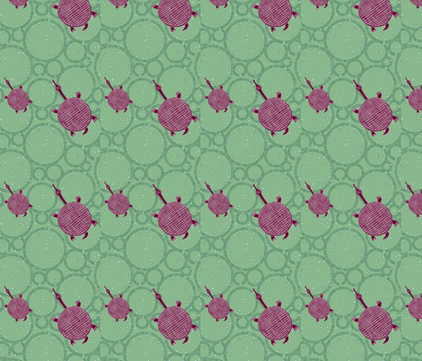 Tribal Turtle- 052 fabric by kkitwana on Spoonflower - custom fabric