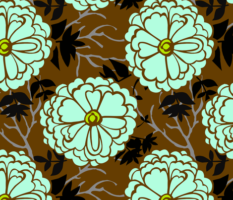 WinterFlowers fabric by renule on Spoonflower - custom fabric