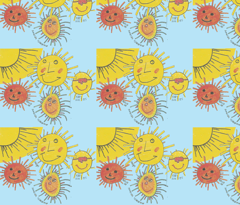 sun-kids-drawing fabric by dcbev28 on Spoonflower - custom fabric
