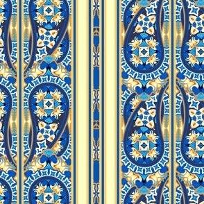 Burian Blue:  Paisley stripes   ©2010 by Jane Walker