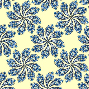 Burian Blue:  Paisley   ©2010 by Jane Walker
