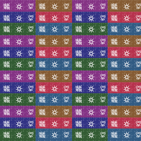 Adinkra Quilt-056 fabric by kkitwana on Spoonflower - custom fabric