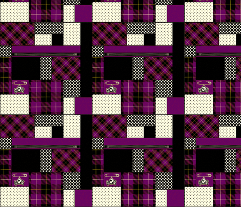 punkpattern-purple fabric by mysteek on Spoonflower - custom fabric