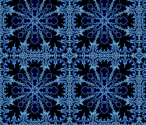 fractal lace in blue fabric by jeallen on Spoonflower - custom fabric