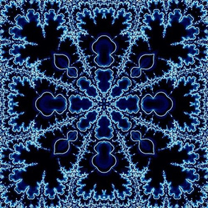 fractal lace in blue