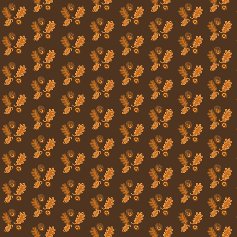 Autumn Brown fabric by disgusted_cats on Spoonflower - custom fabric