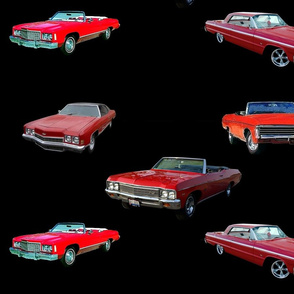 Classic Chevy Impala's a;; in Red