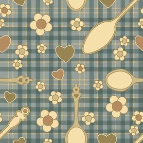Plaid Spoons & Flowers
