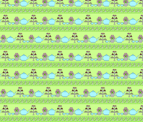 Green Tea fabric by lmg on Spoonflower - custom fabric