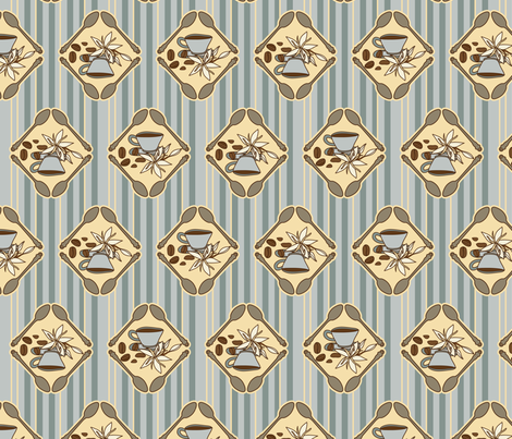 Coffee Time fabric by mysteek on Spoonflower - custom fabric