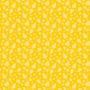 Leaves on Yellow