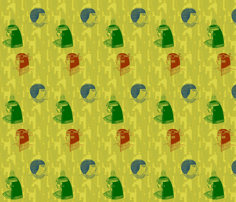 Egyptian Heads-058 fabric by kkitwana on Spoonflower - custom fabric