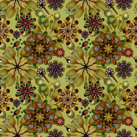 Crazy_Spoon_Flowers fabric by madam0wl on Spoonflower - custom fabric