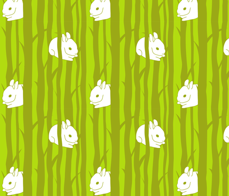 Bunnywood fabric by malien00 on Spoonflower - custom fabric