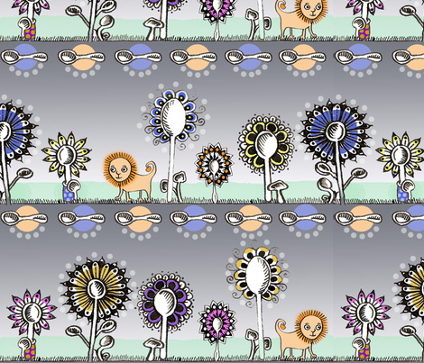 Spoonflowers Lion fabric by emilywhittaker on Spoonflower - custom fabric