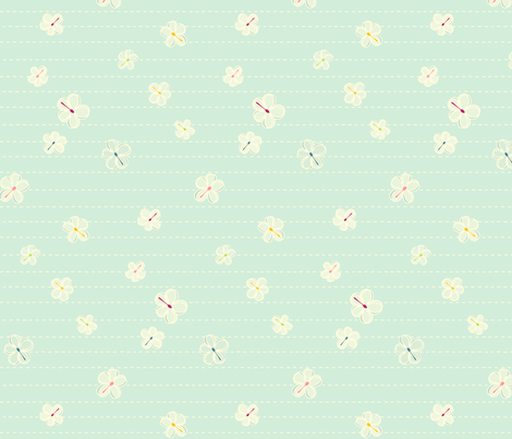 light blue spoons fabric by robinde on Spoonflower - custom fabric