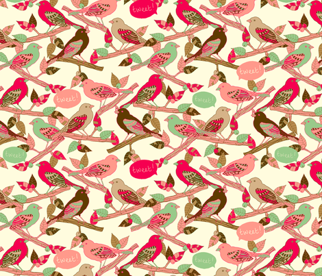 Tweet! fabric by lydia_meiying on Spoonflower - custom fabric