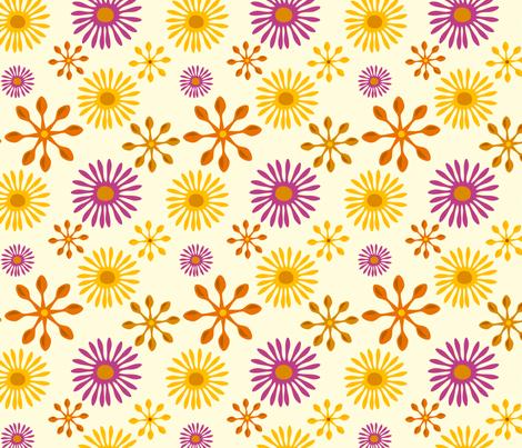 Daisy Spoons fabric by jenimp on Spoonflower - custom fabric