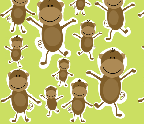 happy monkeys fabric by emilyb123 on Spoonflower - custom fabric