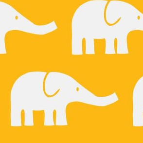 LARGE Elephants in orange