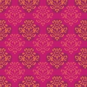 hot_pink_indian_damask