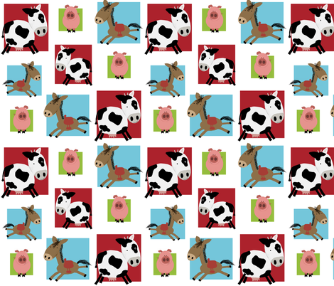 barnyard buddies fabric by emilyb123 on Spoonflower - custom fabric
