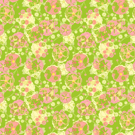 Rose Party - Bamboo fabric by inscribed_here on Spoonflower - custom fabric