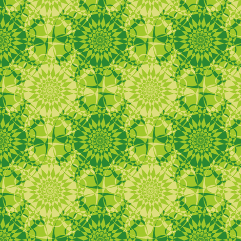 Star-Bright - Bamboo Green fabric by inscribed_here on Spoonflower - custom fabric