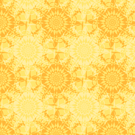 Star-Bright - Sunshine Yellow fabric by inscribed_here on Spoonflower - custom fabric