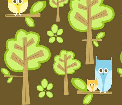 owls 2 fabric by emilyb123 on Spoonflower - custom fabric