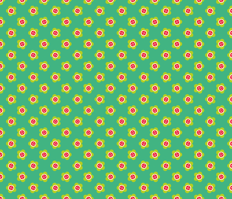 Button Flower fabric by spellstone on Spoonflower - custom fabric