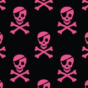 Pirate Skulls - Magenta