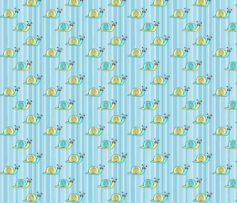 Snails and Stripes fabric by geemarie on Spoonflower - custom fabric