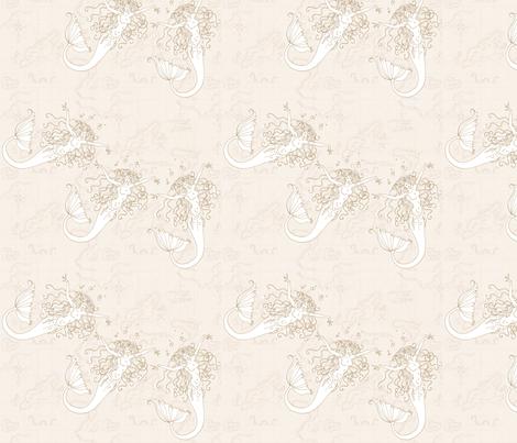 mermaids1 fabric by val0rie on Spoonflower - custom fabric
