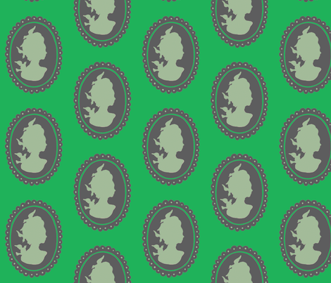 Cameo - Apple Green fabric by giltgoods on Spoonflower - custom fabric