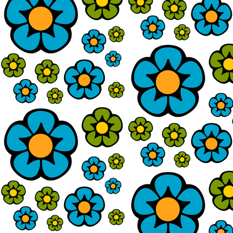 Posie Party fabric by boodillys on Spoonflower - custom fabric