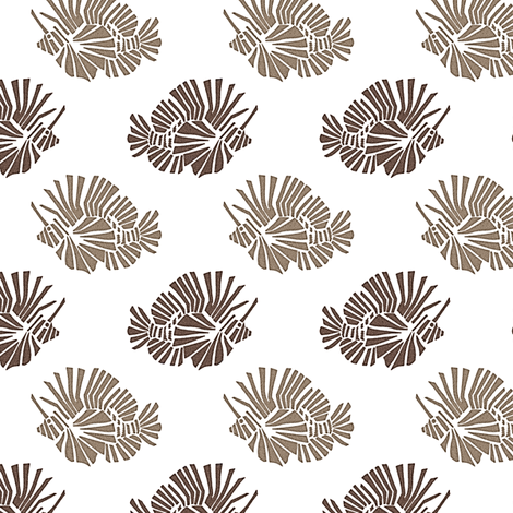 Lionfish Party - Natural fabric by kristopherk on Spoonflower - custom fabric