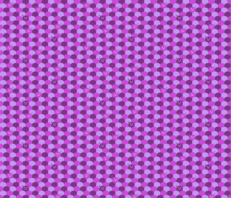 Monster Scallop - Purple fabric by jesseesuem on Spoonflower - custom fabric