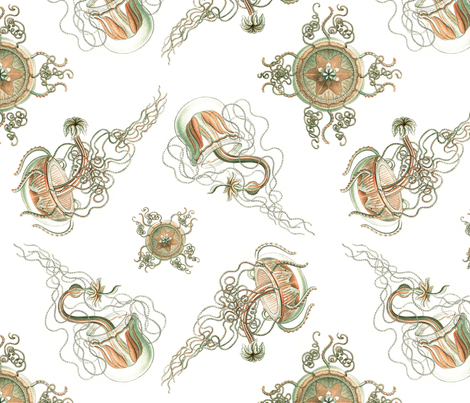 Jellyfish fabric by jellymania on Spoonflower - custom fabric