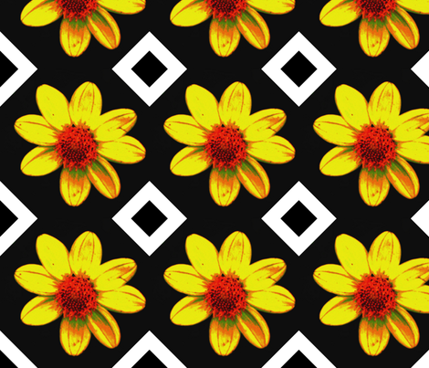 B_exp_db_45_single_yellow_dalia_Sept_23_2009_016 fabric by khowardquilts on Spoonflower - custom fabric