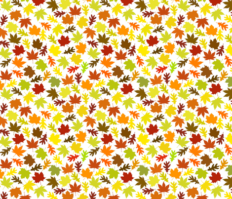 Autumn Leaves fabric by carinaenvoldsenharris on Spoonflower - custom fabric