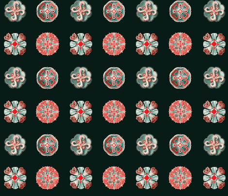 Jellyfish Dots on black fabric by jellymania on Spoonflower - custom fabric
