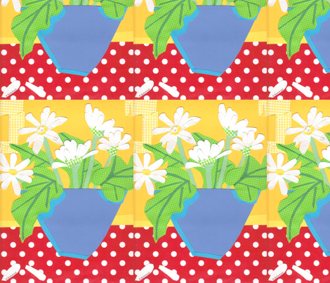 Gerber_Daisies fabric by andie on Spoonflower - custom fabric