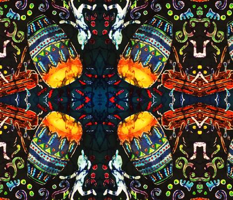 DRUM 2 by SUE DUDA fabric by suedudadesigns on Spoonflower - custom fabric