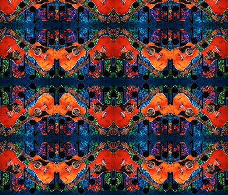 GUITARS 1 by SUE DUDA fabric by suedudadesigns on Spoonflower - custom fabric