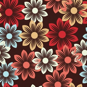 flower pattern on dark background