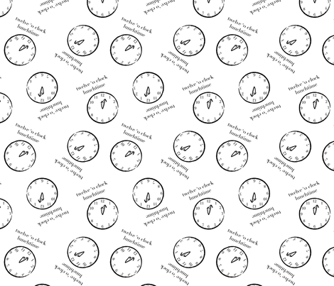 Twelve o clock lunch time fabric by tortagialla on Spoonflower - custom fabric